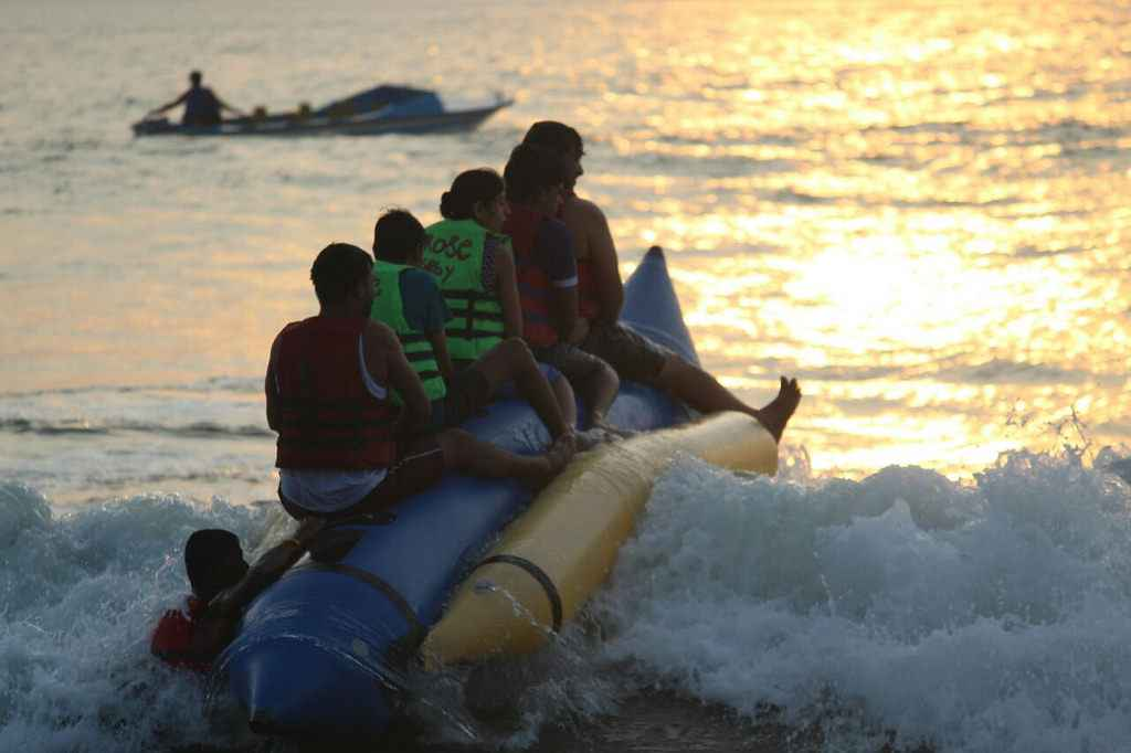 Banana ride in Goa