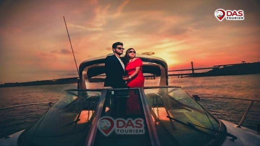 Romantic Couple Pre Wedding Photoshoot on Sea Ray 330 Yacht