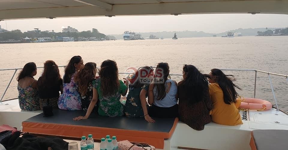 Girls party on catamaran