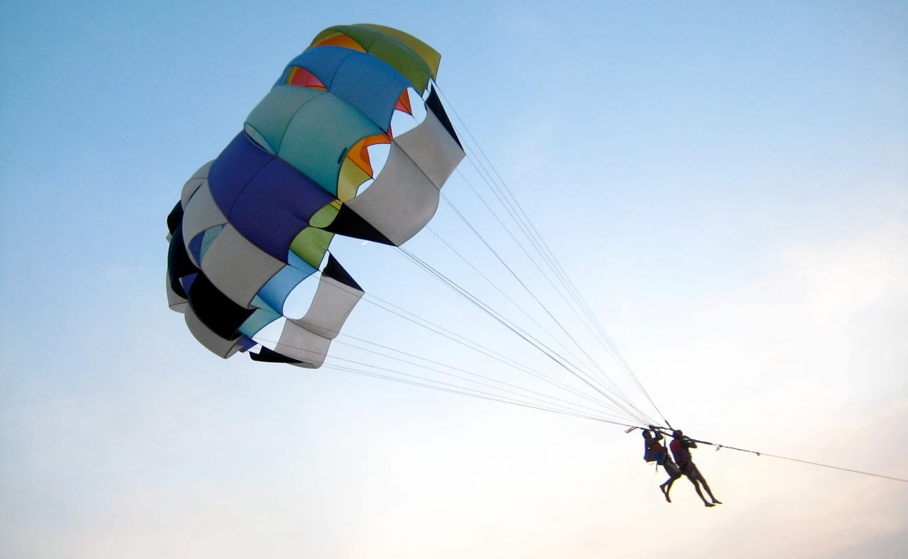 Parasailing in north goa