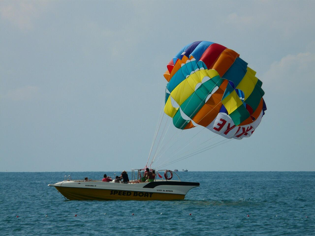 Parasailing boat ride