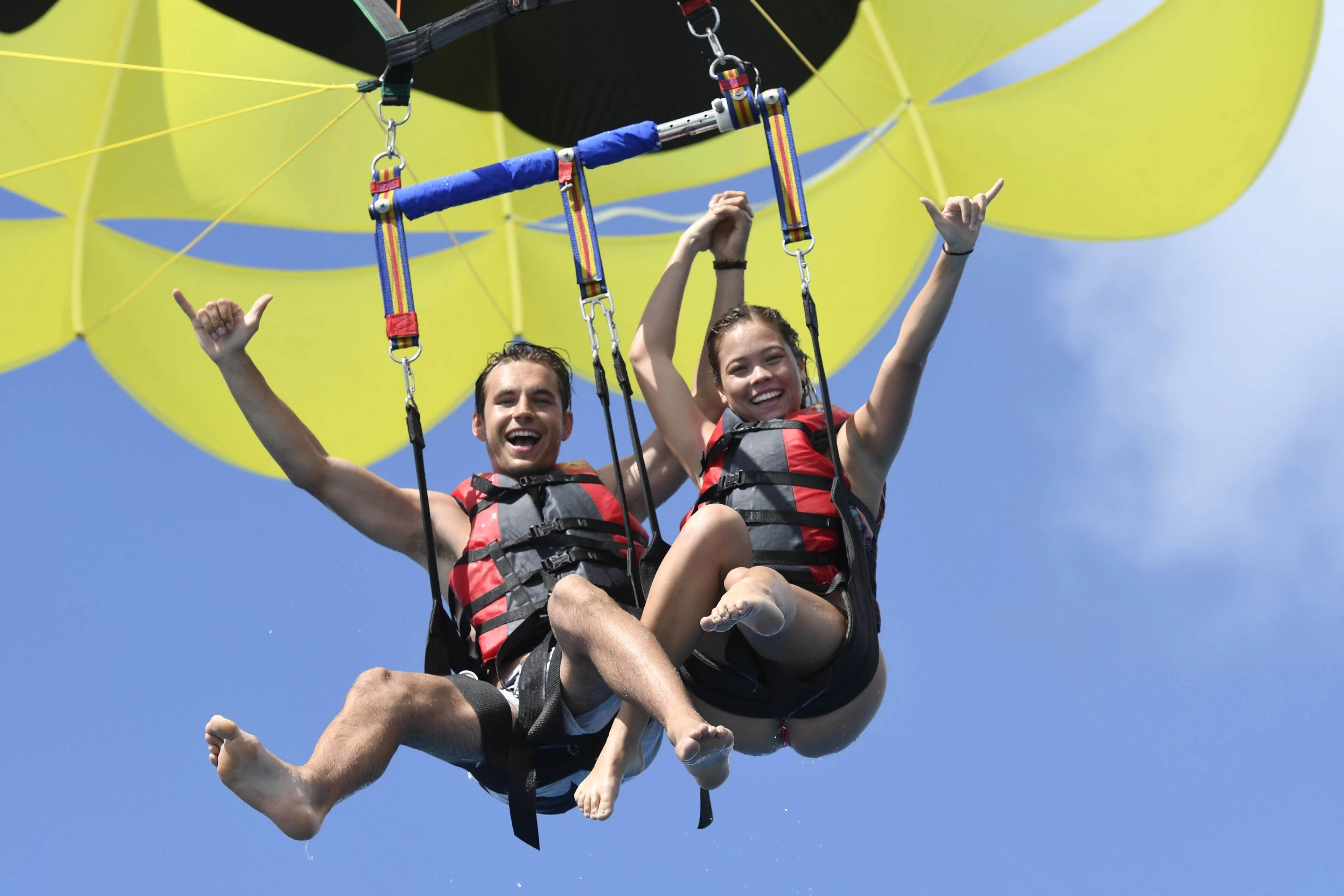 Parasailing in Couple