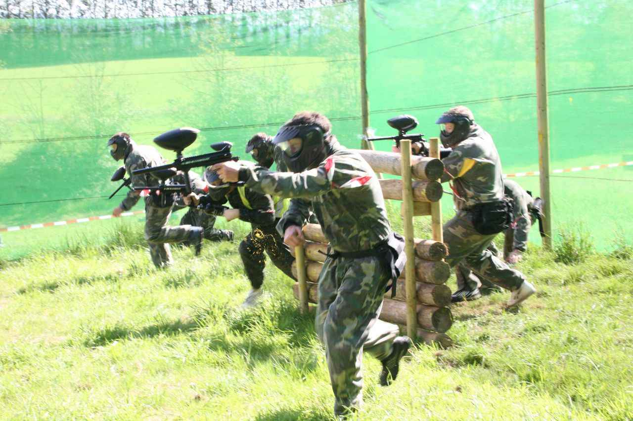 Paint ball activity at Coorg