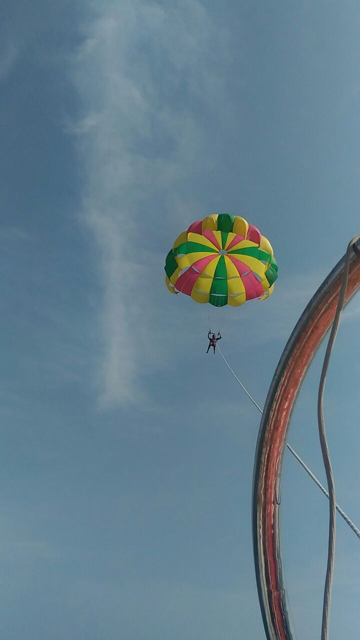 parasailing boat ride in north goa