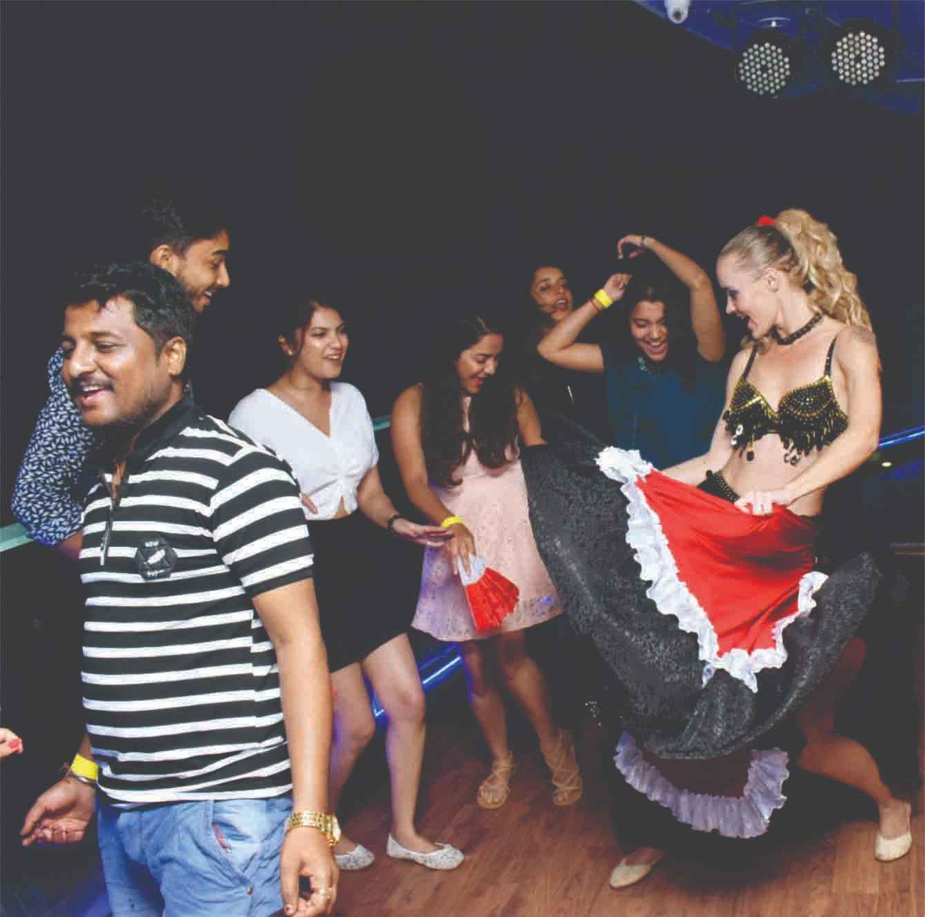Belly dance on cruise