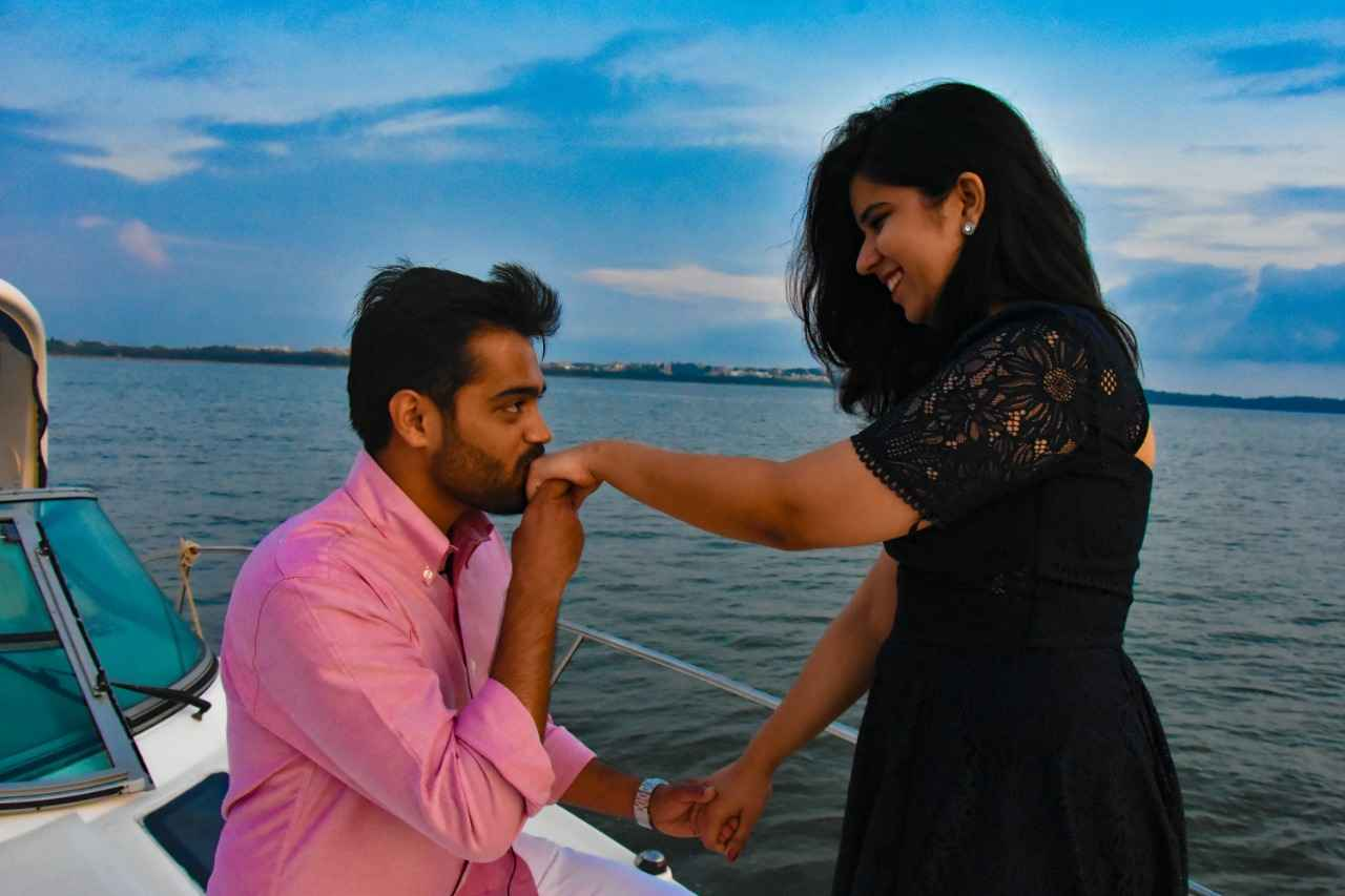 Romantic couple photo shoot in Goa