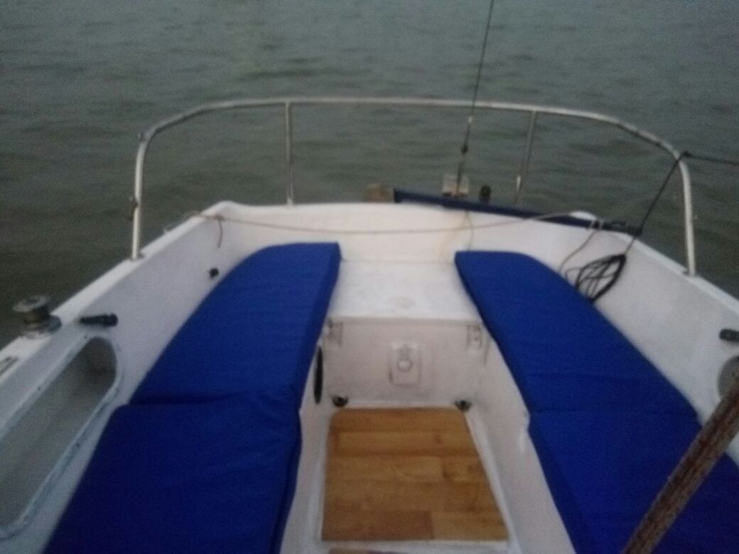 Maxi Sail Yacht back side seating area