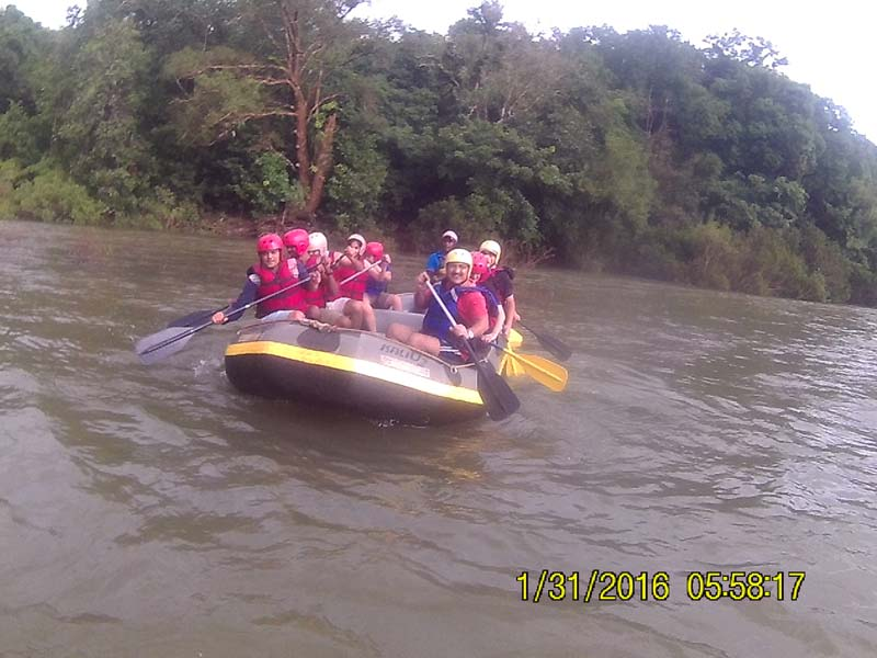 White water river rafting at Mhadei